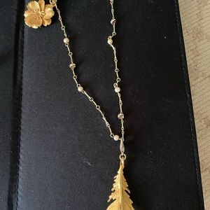 Anthropologie charm necklace (removable charms)
